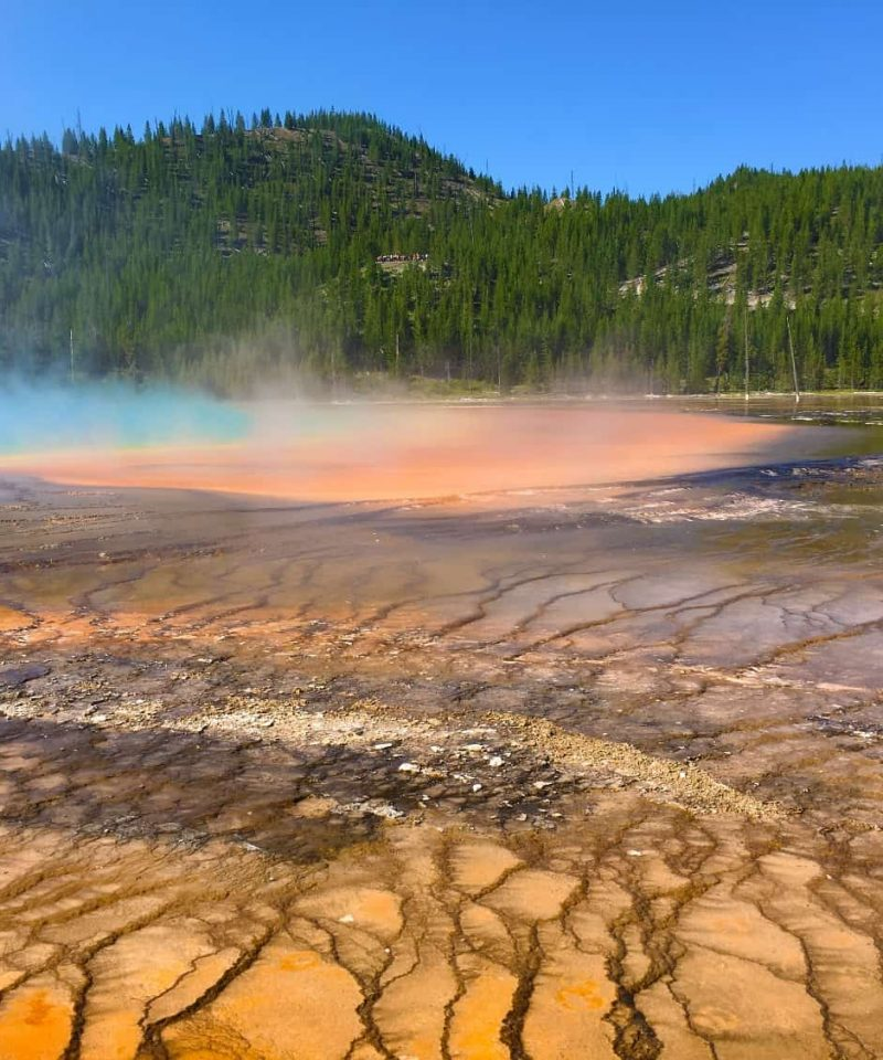хайкинг среди вулканических ландшафтов парка Yellowstone